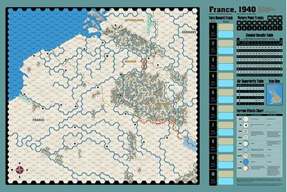 Picture of France 1940 Map by J. Cooper