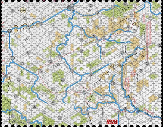 Picture of Battle of the Bulge 81 Winter Half Inch Map