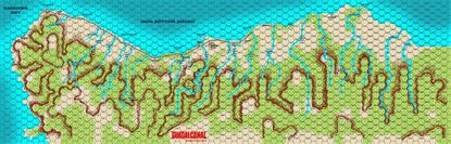 Picture of Guadalcanal Game Map - New Artwork