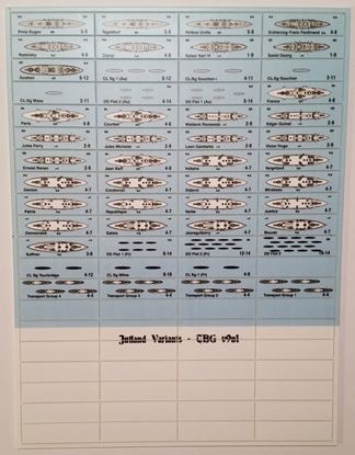 Picture of Jutland The Boardgamer v9n1 Counters