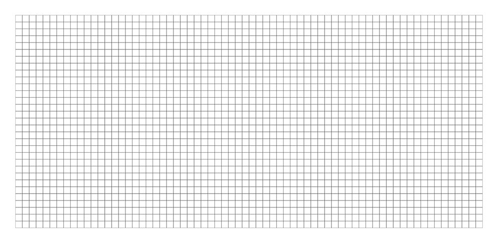Camelot Games Blank Grid Map 36x72 Double Sided