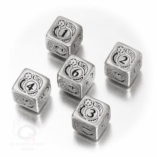 Picture of Steampunk Metal-black set of 5 D6