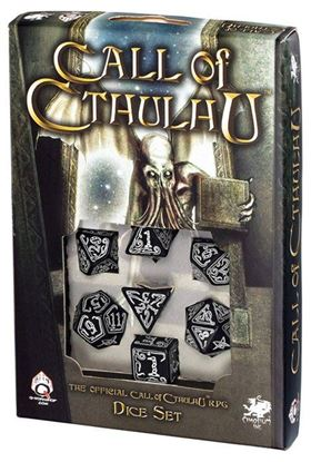 Picture of Call of Cthulhu Black glow-in-the-dark dice, Set of 7
