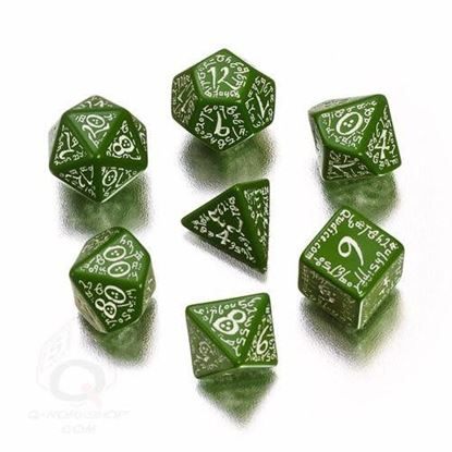 Picture of Elven green-white dice, Set of 7