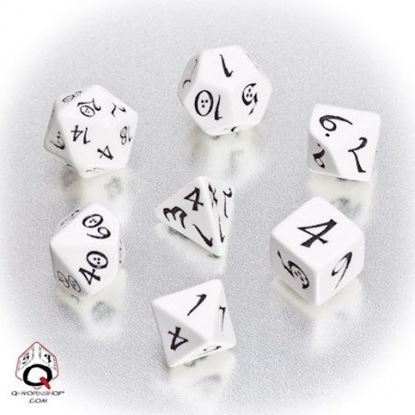 Picture of Classic White-black dice set, Set of 7