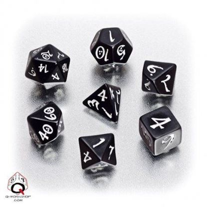 Picture of Classic Black-White dice set, Set of 7