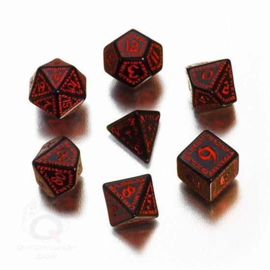 Picture of Runic Black-red dice set, Set of 7