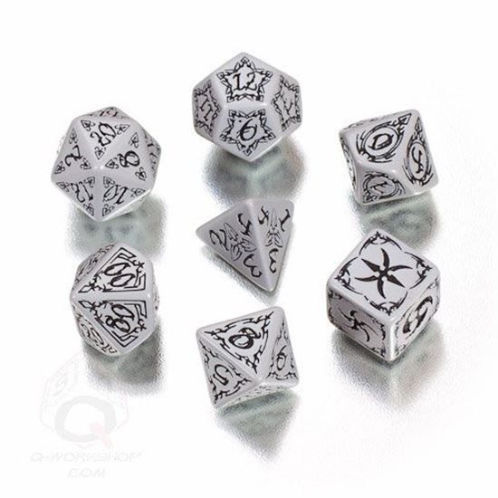 Picture of Tribal Gray-black dice set, Set of 7