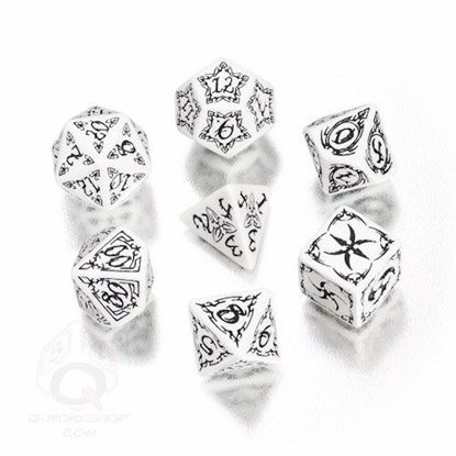 Picture of Tribal White-black dice set, Set of 7