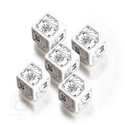 Picture of Savage Worlds Wild Dice white&black dice set, Set of 5 d6