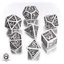 Picture of Dwarven White-black dice set, Set of 7