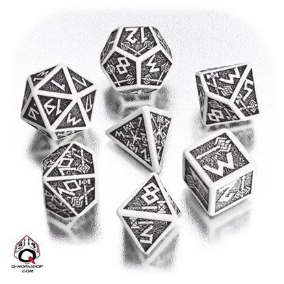 Picture of Dwarven White-black dice set, Set of 7