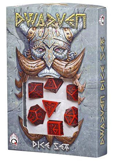 Picture of Dwarven Red-black dice set, Set of 7