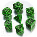 Picture of Celtic 3D Green-black  dice set, Set of 7