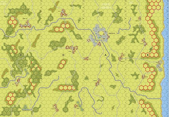 Imaginative Strategist Panzer Leader Map Set ABCD 5/8 inch