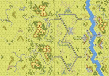 Picture of Imaginative Strategist Panzer Leader Map Set IJKL 5/8 inch