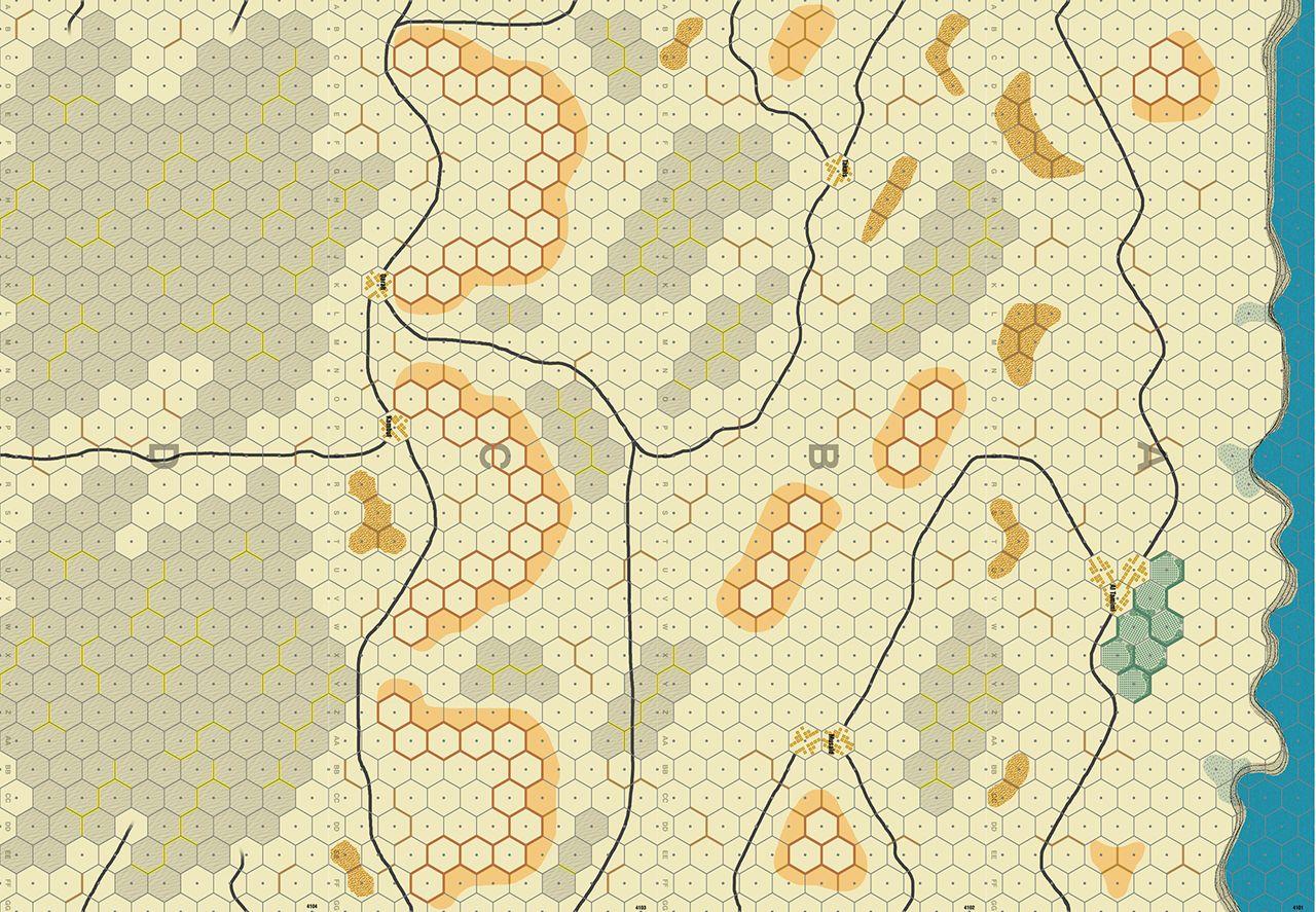 Camelot Games Panzer Leader Blitz North Africa Libya Desert Map Set - North africa map