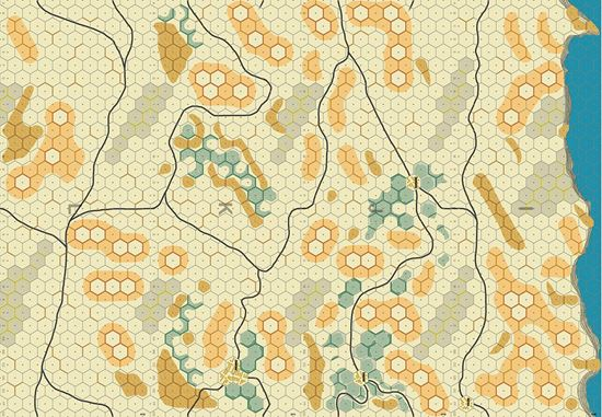 Picture of Panzer Leader Blitz North Africa Tunis Desert Map Set 5/8 inch