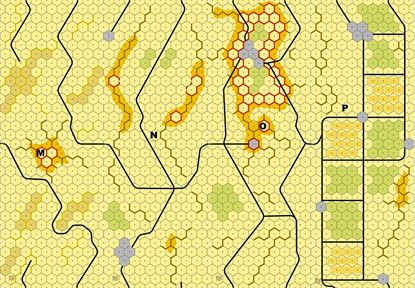 Picture of Imaginative Strategist Panzer Leader Desert Map Set MNOP 5/8 inch