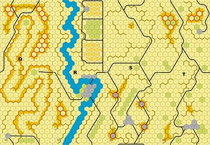 Picture of Imaginative Strategist Panzer Leader Desert Map Set QRST 5/8 inch