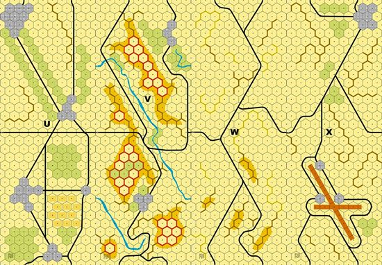 Picture of Imaginative Strategist Panzer Leader Desert Map Set UVWX 5/8 inch
