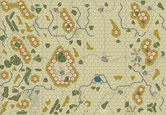 Picture of Imaginative Strategist Panzer Blitz Map Set 1234 5/8 inch