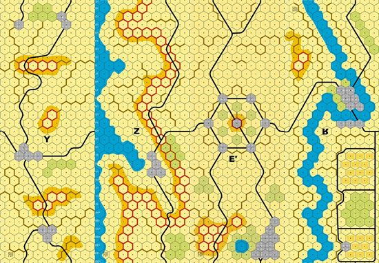 Picture of Imaginative Strategist Panzer Leader Desert Map Set YZE'R inverse 5/8 inch