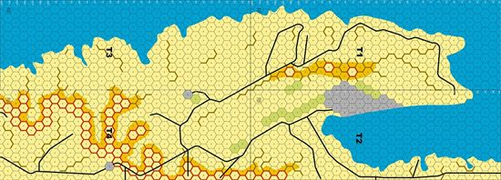 Picture of Imaginative Strategist Panzer Leader Desert Map Set Tobruk 5/8 inch