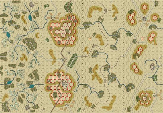 Picture of Imaginative Strategist Panzer Blitz Map Set 14151617 5/8 inch