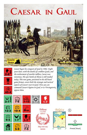 Picture of Caesar in Gaul board game 2nd Ed