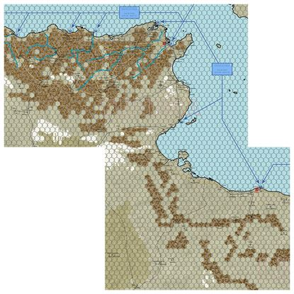 Picture of Afrika Korps Tunis Map Section