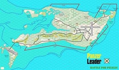 Picture of Panzer Leader Blitz Peleliu Map 5/8 inch