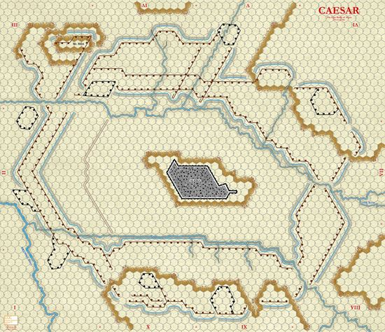 Picture of Caesar at Alesia NEW Map - Tan 3/4in hexes