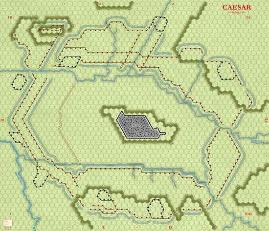 Picture of Caesar at Alesia NEW Map - Green 3/4in hexes