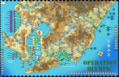 Picture of Ketsu-Go / Olympic Large Map - 1in Hexes