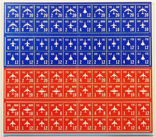 Picture of Blitzkrieg Aircraft Counters - Dark Red and Blue, White text