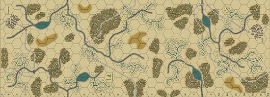 Picture of Imaginative Strategist Panzer Blitz Map 14 - 5/8 inch