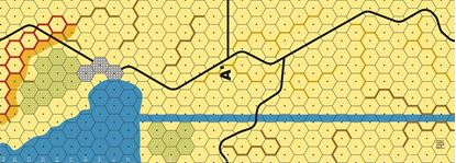 Picture of Imaginative Strategist Panzer Leader Desert Map A' - 5/8 inch