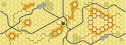 Picture of Imaginative Strategist Panzer Leader Desert Map B' - 5/8 inch