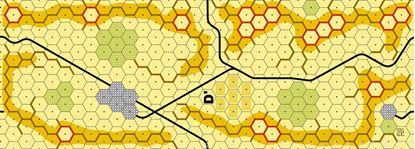 Picture of Imaginative Strategist Panzer Leader Desert Map D' - 5/8 inch